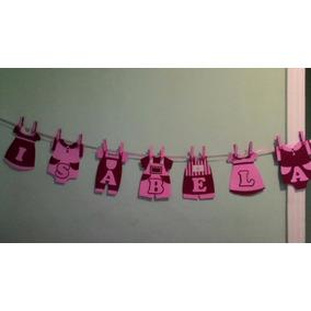 Varal Para Chá De Bebê E Fraldas