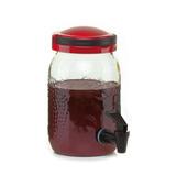 Dispensador Jugo/agua Vidrio 3lts Tapa Plastico