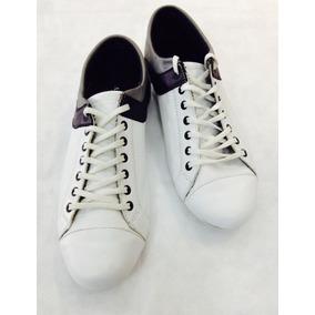 Zapatillas De Cuero Blancas Liquidación Talle 44