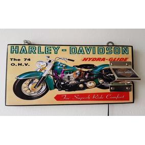 Moto Harley Davidson Cuadro Destapador Cartel Vintage