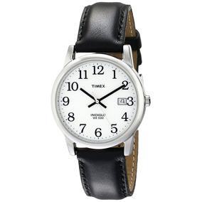 Reloj Timex T2h2819j Con Luz Indiglo Correa De Cuero Fechado