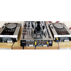 Par Cdj 200 Pioneer + Mixer Behringer Djx700 Profissional