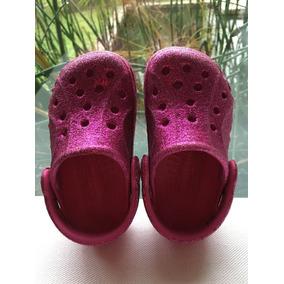 Crocs De Glitter (brillosas). Para 1 - 2 Años. Talle 4 C 5.