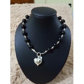 Collar Plata 925 (sin Dije) Con Piedras Semi Preciosa