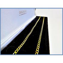 Cadena Oro Amarillo Solido 14k Mod. Barbada De 3mm 5grs Acc