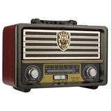 Radio Retro Bluetooth Antigo Am Fm Sw Portatil Recarregavel