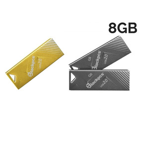Memoria Flash Blackpcs 8gb Metal Oro Plata