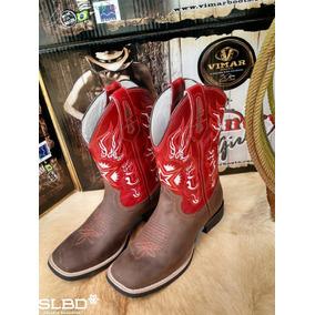 Bota Country Texana Vimar Boots Ref 50013 Jaguar Cano Verm 648ead15638