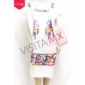 Vestido Manta Blanca Pajaros Violeta - 184530