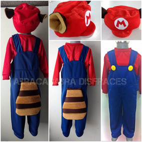 Disfraz Tipo Super Mario Bros Luigi Mapache Toad (mario)