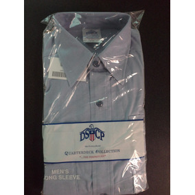 Camisa Militar Dscp Quarterdeck Collection Navy