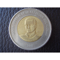 República Dominicana - Moneda De 10 Pesos, Año 2008 - M/b