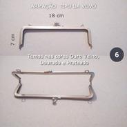 Armação Bolsa Vovó Vintage 2 Fechos + 2m De Corrente P/ Alça
