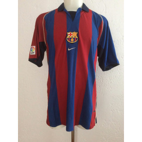 Jersey Barcelona Local Temporada 2001-2002 Nike De Época