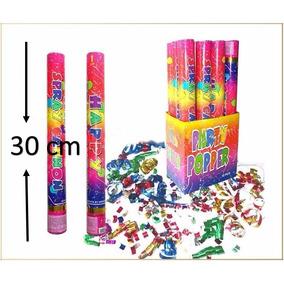 5 Cañones Bazooka Lanza Confeti Papel Metálico De 30cm