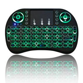 Mini Teclado Air Mouse Touch Sem Fio Tv Box Wireless Com Luz