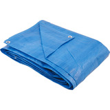 Lona Azul 7x8m Plastica Impermeavel Festa Telhado Multi Uso