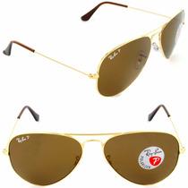 Ray Ban Aviator 3025 Polarizados Anteojos De Sol Originales