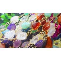 Colar Grande Em Pedras Ametista/cristal/citrino/ônix/quartzo