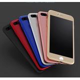 Funda Cubre Completo 360° Iphone 5 Se 6s 6plus 7 7 Plus Glas