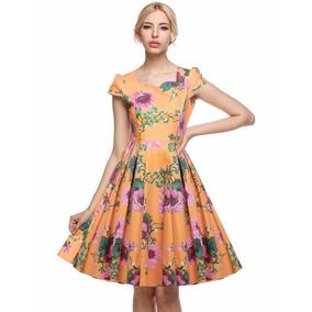 Tsuki Moda Japonesa: Vestido Retro Vintage Pin Up Flores