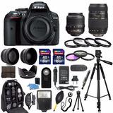 Nikon D5300 24.2 Mp Cmos Digital Slr Camara Con Wi-fi Y Gps