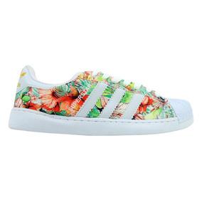 Tênis adidas Superstar Branco E Floral
