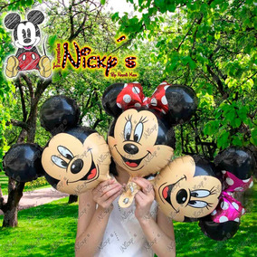 10globo Cara De Mickey O Minnie Mouse Para Centro De Mesa Ch