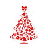 Adesivo Árvore De Natal Decoração Parede Móveis Vidros 95cm