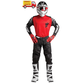 Combo Thor Pantalon, Jersey Y Guantes Motocross Enduro Honda