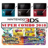 Nintendo 3ds Reacondicionada+ 32gb 1 Año Garantia +20 Juegos