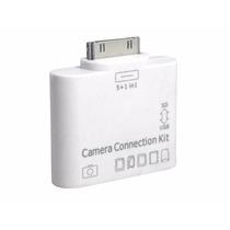 Leitor 2x1 Apple Ipad 1 2 3 Adaptador Usb Cartão Sd Câmera P