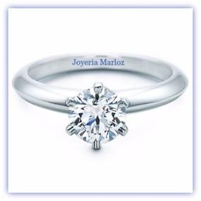Anillo de compromiso diamante sintetico precio
