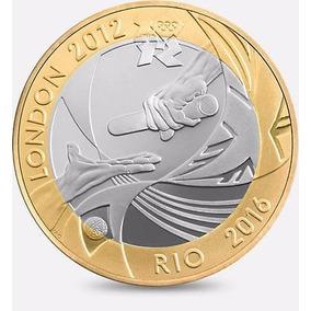 Moeda Entrega Bandeira Londres 2012 Para Rio 2016 2 Libras