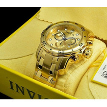 Relógio Invicta Pro Diver 0074/6981 Original Gold Caixa.
