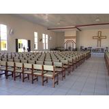 Banco Igreja Em Madeira Cadeiras Estofadas - Sob Encomenda