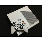 Skin Xbox 360 E Tipo Fibra Carbon Blanco Full