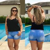 Bermuda Shorts Plus Size Roupas Femininas Jeans Promoção