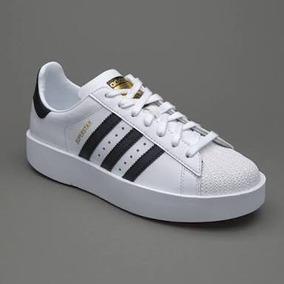 Tenis adidas Superstar Bold Originales (talla Amplia)