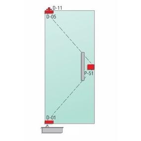 Puerta Vidrio Templado 10 Mm De 800 X 2330 Mm Tipo Blindex