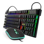 Kit Teclado + Mouse Gamer Rgb C/ Fio Poucas Unidades