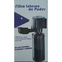 Filtro Cabeza De Poder Interno 600l/h Peces Pecera 200litros