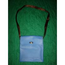 Cartera De Damas, Color Azul, Marca Furla