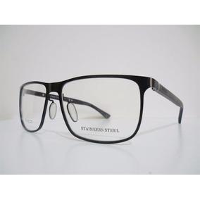 Armação Óculos De Grau Gg 2275 Aço Multifocal Moderna