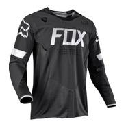 Remera Jersey Legion Negro Atv Moto Motocross Fox Head
