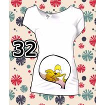 Blusas De Embarazo Divertidas Los Simpsons Super Originales