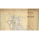 Latzina. Mapa De La Provincia De Jujuy. 1889. Antiguo