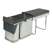 Cubo Cesto Residuos Doble Cod. Hafele 502.92.020 Inox.30 L