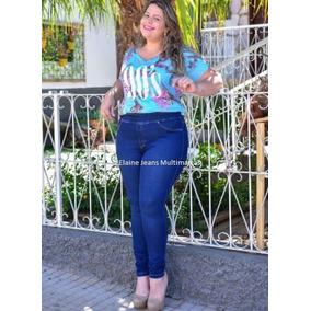Calça Legging Cambos Jeans Feminina Plus Size Moda Grande