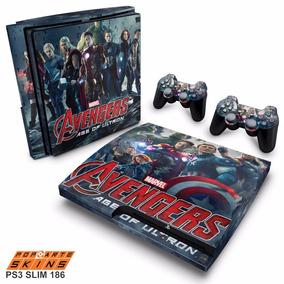 Skin Ps3 Slim Adesivo Playstation 3 Vingadores 2